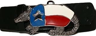 K's Novelties Armadillo Belt Buckle State of Texas TX United States Metal