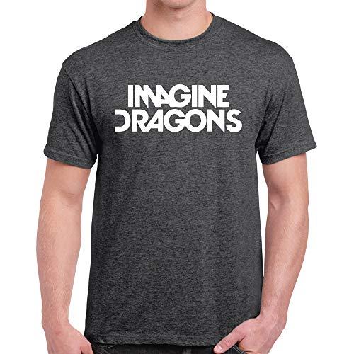 Imagine Dragons Camiseta Indie 100% algodón, unisex, Rock Brezo Oscuro XL