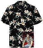 Original Hawaiian Shirt, Tom Selleck, Star Orchid, Black, XL