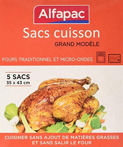 ALFAPAC - Bolsas para horno (35 x 43 cm), paquete de 5 unidades
