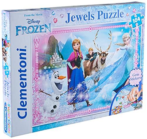 Disney Frozen - Puzzle: Joyas, 104 Piezas (Clementoni 20133)