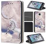 Hülle für Samsung Galaxy A20e A202F Handyhülle Flipcover Coverfix2 Schutzhülle Handycover Handy Case 1561 Einhorn Pferd Mond Abstract Hülle für Samsung Galaxy A20e A202F