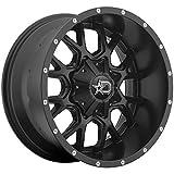 Dropstars 645B 20x10 8x165.1/8x6.5' -19mm Black/Milled Wheel Rim