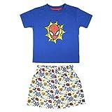 Cerdá Pijama Niño de Spiderman-Camiseta + Pantalon de Algodón Juego, Azul Marino, 3 años para Niños