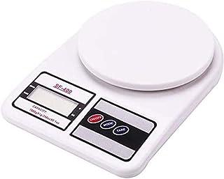 ميزان الكتروني رقمي للمطبخ من يونسي، ميزان الكتروني متعدد الاستعمالات (لون ابيض، 10 كغم) مع بطارية