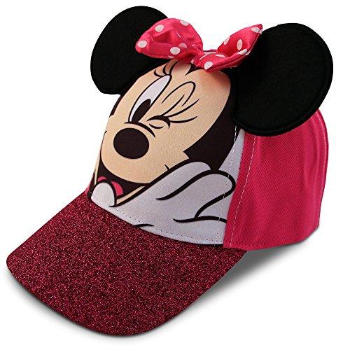 Disney Mädchen Minnie Mouse Charakter Baumwolle Baseball Cap Kleine Mädchen - Alter 4-7 - 53CM Rosa