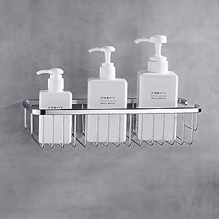浴室用ラック 強力 粘着式 お風呂の壁に 洗面所ラック ステンレス シャワーラック 一年保証付き