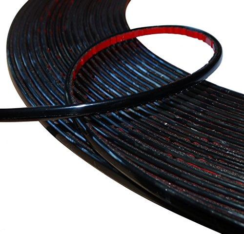 Aerzetix: 6mm 4.5m schwarz Klebeband auf Auto-Auto-Motorrad-Stick