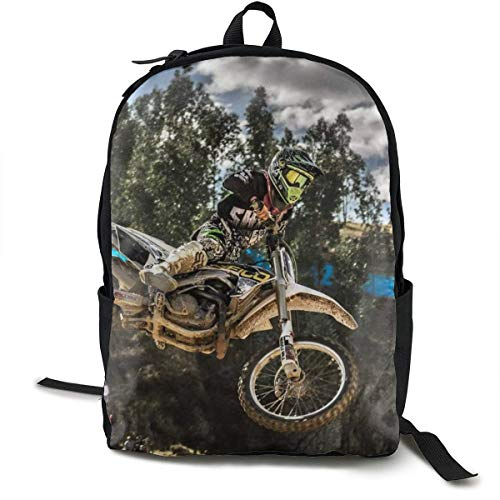 Durable Polyester Daypack Motocross Sport Motorcycle Vehicle Reisen Hiking & Camping Rucksack - Big Capacity Multipurpose Anti-Diebstahl Shoulder Bag for Men Women Girls Boys