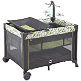 Portable Playard,Sturdy Play Yard with Comfortable Mattress and Changing Station (Forest Green)