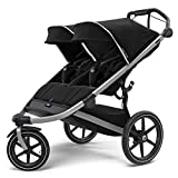 Thule Urban Glide 2 Jogging Stroller, Black/Silver Frame, Double