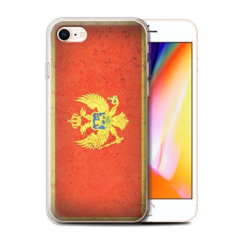 Telefoonhoesje voor Apple iPhone SE 2020 Europese vlag Montenegro/Montenegrin Ontwerp Transparant Heldere Ultra Zachte Flexi Siliconen Gel/TPU Bumper Cover