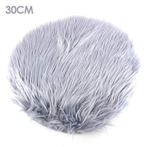 Best-ycldcyp Area Augs,Round Faux Fur Rug Soft Fluffy Anti-Skid Carpet Chair Cushion Cover Sofa Pad Nursery Rug 45x45cm