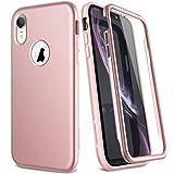 SURITCH Compatible con Funda iPhone X/XS Silicona 360 Grados Oro Rosa Bumper Flexible TPU Elegante Delantera y Trasera Irrompible Anti Choque Caso Carcasa iPhone XS/X - Oro Rosa