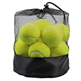 Tebery Lot de 20 Balles Tennis avec Sac de Transport en Maille, Durables, Vert pour Adultes, Enfants et Chiens