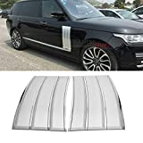 MotorFansClub Fender Air Side Vents Fit for Compatible with Range Rover L405 2013-2019 Silver With Chrome Accents