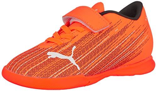 PUMA Unisex-Kinder Ultra 4.1 It V Jr Fußballschuh, Shocking Orange-Puma Black, 35 EU