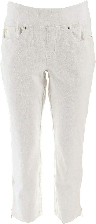 Belle Kim Gravel Flexibelle Pull-On Cropped Jeans A301822