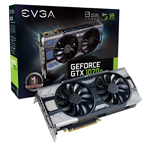 EVGA GeForce GTX 1070 Ti FTW2 GAMING, 8GB GDDR5, iCX Technology - 9 Temperatur Sensoren & RGB LED G/P/M, Asynch Fan, Optimized Airflow Grafikkarte 08G-P4-6775-KR