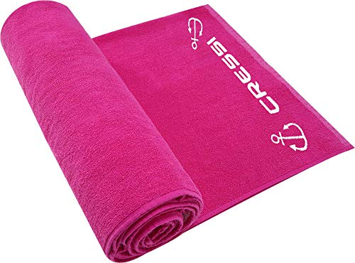 Cressi Cotton Frame Beach Towel Toalla Deportiva, Adultos Unisex, Fucsia, 90 x 180 cm