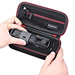 """Smatree Hard Carrying Case Compatible with DJI Osmo Pocket 2/Osmo Pocket, Extension Rod, OSMO Pocket Waterproof Case and… 11 Size: Small, Dimensions: 7.6"""" x3.5"""" x2.8"""" compact and easy to store in backpacks or carry-on luggage; recommend for traveling and home storage. Nice shaped compartments fit for osmo pocket, it can holds 1 x osmo pocket,4 x Neutral density filters,2 x SD Cards,2 x Smartphone Adapter(Refer to pictures). With comfortable hand strap for easy carrying. The hand strap can be easily attached to a belt or large bag."""