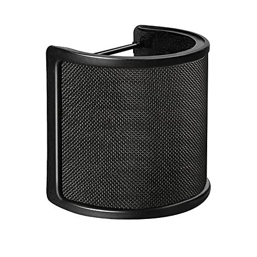 Pop Filter,Aokeo [Upgraded Three Layers] Metal Mesh & Foam & Etamine...