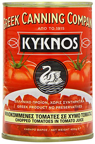 Kyknos gewürfelte Tomaten - 400g Dose, 4er Pack (4 x 400 g)