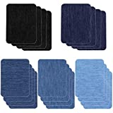 Patches for Jeans, Selizo 20 Pcs Iron on Patches Denim Jean Patches for Clothing Repair, Inside Jeans, 5 Colors (4.9' X 3.7')