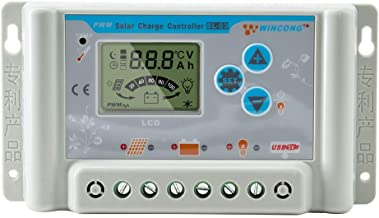 PowMr 10 Amp Solar Charge Controller 12V 24V auto - Upgraded Solar Charge Controller Regulator with Overload Protection Temperature Compensation,Compatible with Lithium, Sealed, Gel, Flooded,