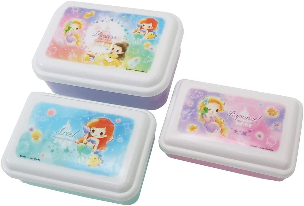 Dd Princess Nest quality assurance Lunch Food Container 3P 2020 Ranking TOP6 Box Disney Set