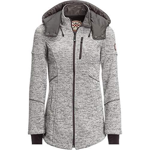 HFX Women's Water Repellent Bonded Fleece Sweater Jacket, Heather Grey, Large