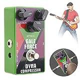 Pedal de compresor, unidad de bloque único True Bypass Pedal de efecto de guitarra Pedal de compresor dinámico para guitarra eléctrica para bajo True Bypass
