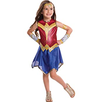 Generique - Disfraz clásico Wonder Woman Liga de la Justicia niña ...