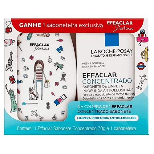 Sabonete Facial em Barra Effaclar Concentrado La Roche-Posay 70g + 1 Saboneteira Desenhos Sortidos