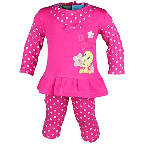 Tweety Baby Set Leggins Tunika 2in1-Look pink/rosa M19 (80, pink)