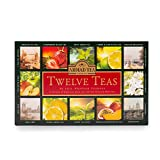 Ahmad Tea Twelve Teas Collection of 12 Black, Fruit-Flavoured & Green Teas - 60 Teabags
