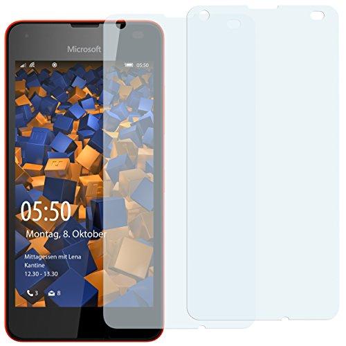 mumbi Schutzfolie kompatibel mit Microsoft Lumia 550 Folie klar, Bildschirmschutzfolie (2x)