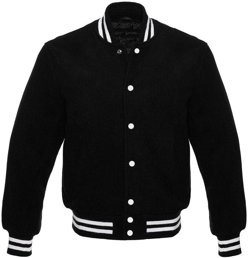 Apex Ltd Original All Wool Varsity Letterman Jackets (4 Team Colors) Wool XS to 7XL