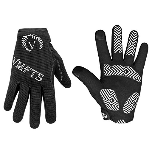 VMFTS Cycling Gloves Full Finger Motorcycle Gloves Outdoor Winter Work Gloves Touch Screen Men Womans for Driving Camping Hiking Riding Biking Running Hunting Fishing Shooting,Black Medium