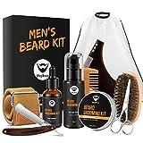 Maybeau barbe kit 6pcs complet de soin entretien pour homme huile à barbe naturel...