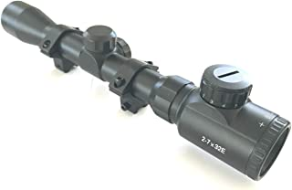 DB TAC Tactical 2-7x32 Compact RANGEFINDER .223 .308 Scope with Free Rings
