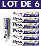 Signal, Dentifrice Protection Complète, Integral 8, Protection longue durée, 48h (Lot de 6x75ml)