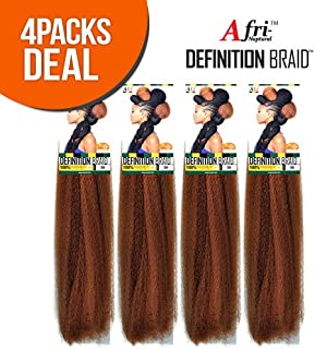 4 Pack Deal ISIS Synthetic 100% Kanekalon Braid A Fri-Naptural Definition Braid (1B)