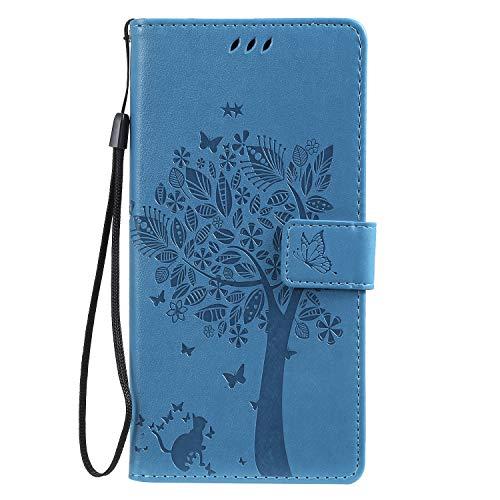 LODROC Galaxy Note 10+ (Note 10 Plus) Hülle, TPU Lederhülle Magnetische Schutzhülle [Kartenfach] [Standfunktion], Stoßfeste Tasche Kompatibel für Samsung Galaxy Note10+ 5G - LOKT0100445 Blau