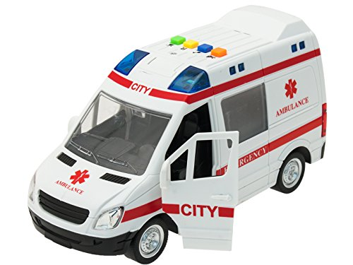 TEOREMA Coches con Luces y Sonidos (Escala 1:16) Ambulancia