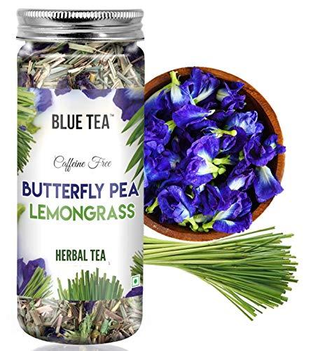 BLUE TEA – Butterfly Pea Lemongrass Herbal Tea (25 Gram ) – Good for Hair & Skin | Caffeine Free Herbal Tea