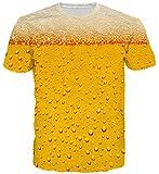 Goodstoworld Cool Funny Cerveza burbujeante Camisetas Verano Personalizado Impreso Cuello Redondo Camiseta tee Tops para Mens Womens XL