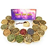 Dried Herbs for Witchcraft - Witch Herbs for Protection Herbal Magic Love Spells Money Spiritual - 20 Wiccan Herbs for Wicca Altar Supplies - Voodoo Magic with Wooden Spoon