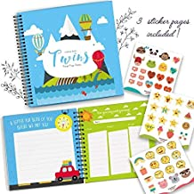 Twins First 5 Years Memory Book - A Gorgeous Baby Keepsake Journal to Cherish Your Twin's First Five Years Forever - Includes Stickers, Family Tree, Holidays, Letters from Mom & Dad and Much More