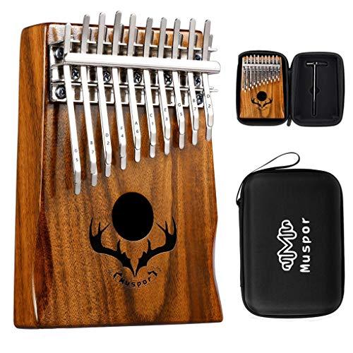 Xinjieda Kalimba 20 Teclas de Doble Capa de 20 Llaves de Metal Piano de Mano de Madera del Instrumento Musical portátil
